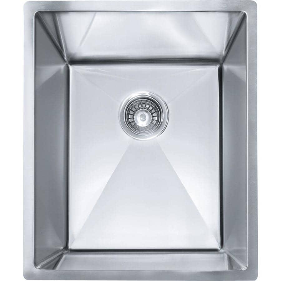 Franke Planar 8 18.5-in x 15.5-in Stainless Steel Single-Basin Undermount Residential Kitchen Sink