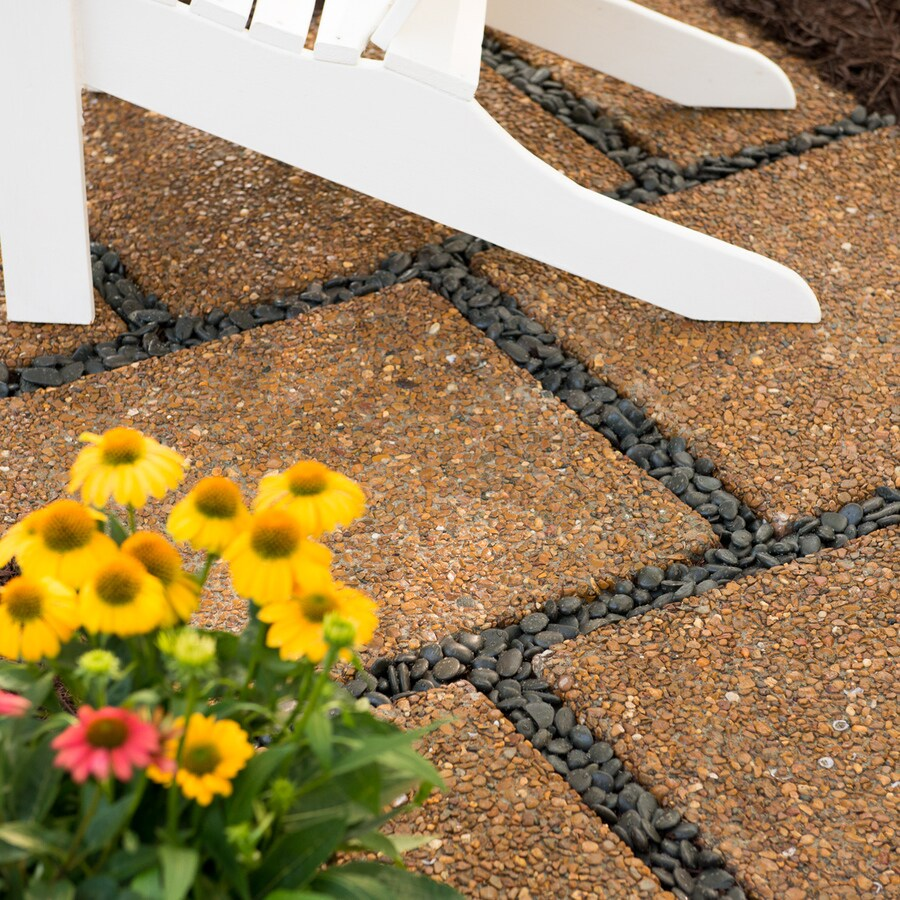 Brown River Rock Concrete Patio Stone (Common: 24-in x 24-in; Actual: 23.5-in x 23.5-in)