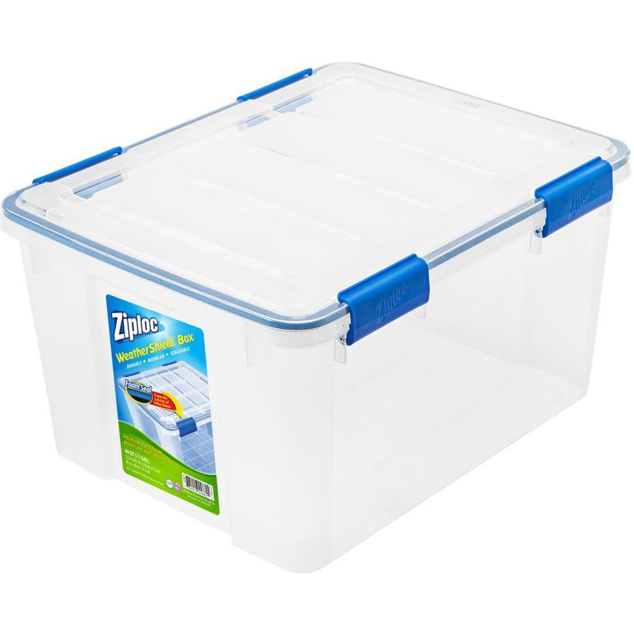 Ziploc Brand 44-Quart Clear Tote with Latching Lid