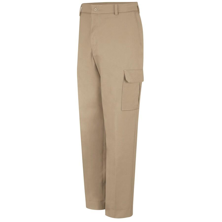 Red Kap Men's 44 x 34 Khaki Twill Cargo Work Pants