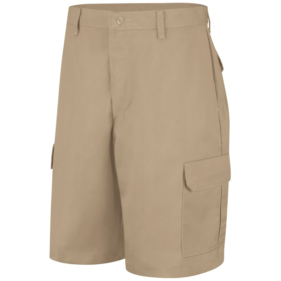 Red Kap Men's 32 Khaki Twill Cargo Work Shorts