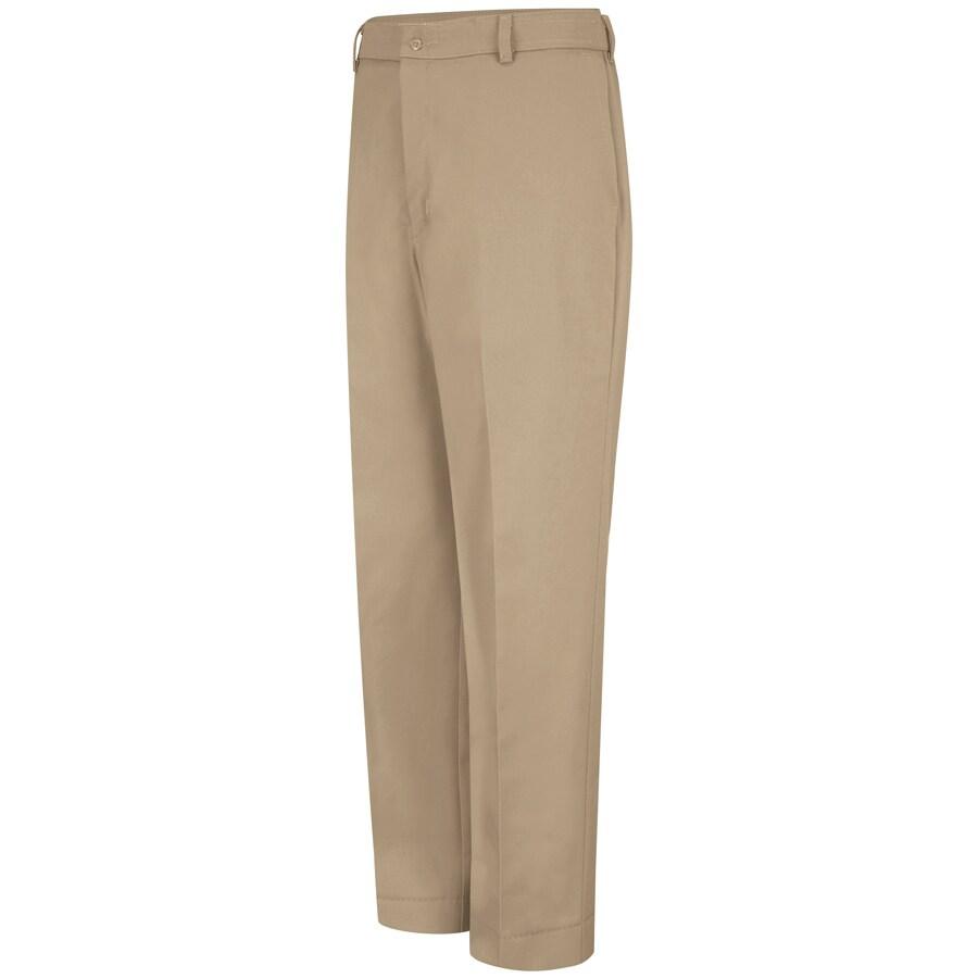 Red Kap Men's 52 x 30 Khaki Twill Work Pants