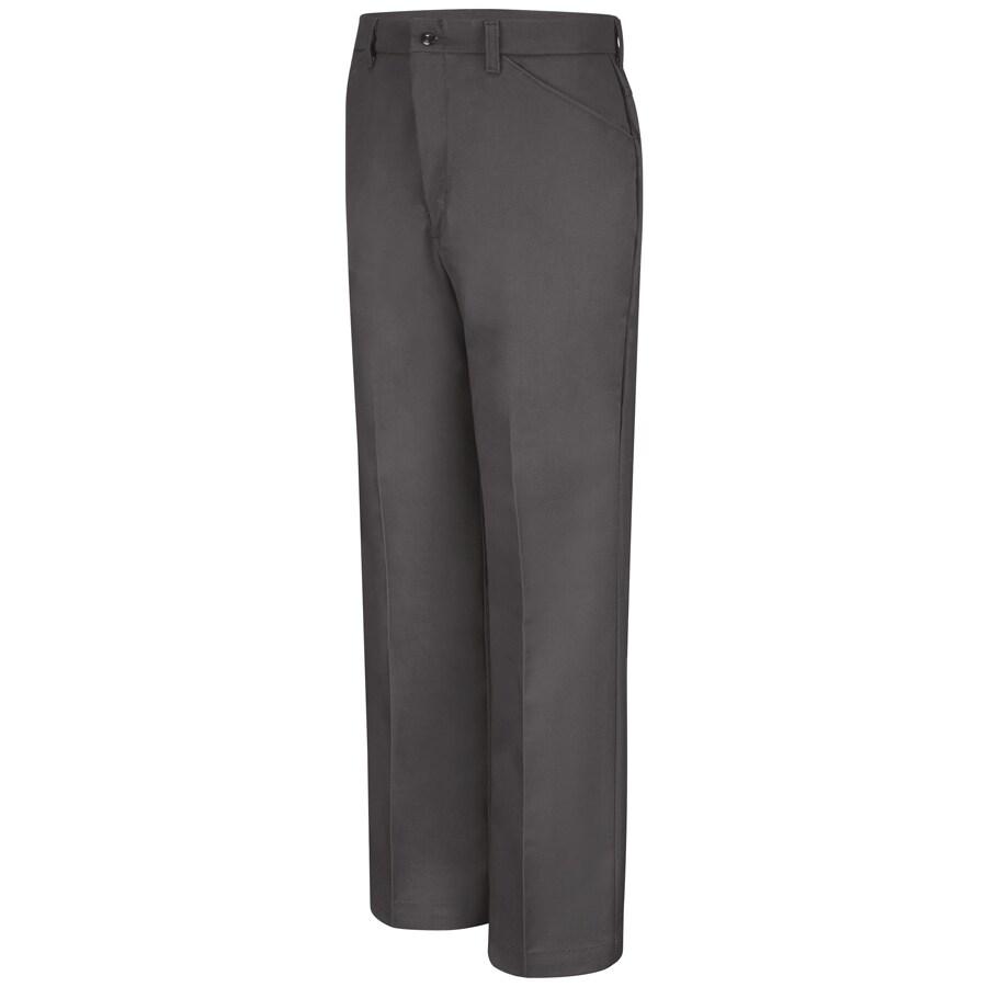 Red Kap Men's 44 x 30 Charcoal Twill Work Pants