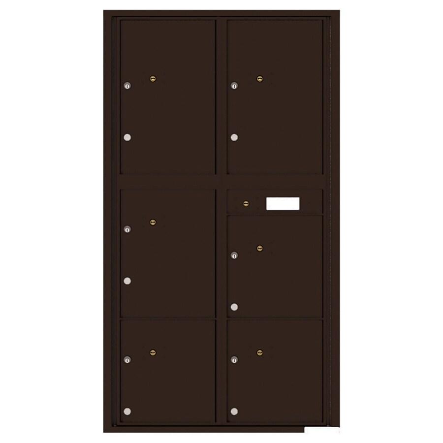 Florence Versatile 31.56-in x 56.5-in Metal Dark Bronze Lockable Cluster Mount Cluster Mailbox