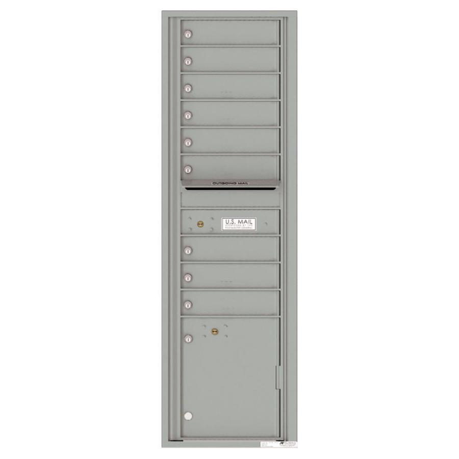 Florence Versatile 17.5-in x 56.5-in Metal Silver Speck Lockable Cluster Mount Cluster Mailbox