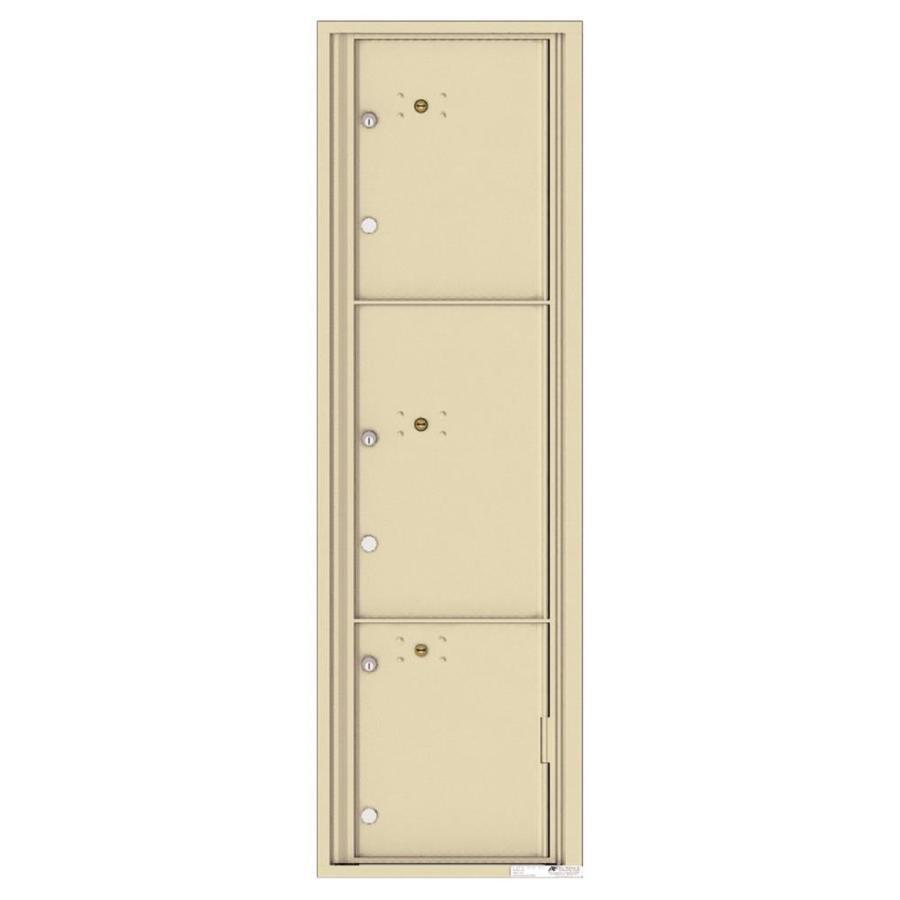 Florence Versatile 17.5-in x 56.5-in Metal Sandstone Lockable Cluster Mount Cluster Mailbox