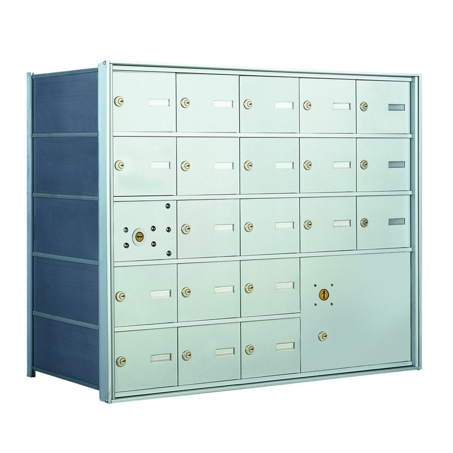 Florence 1400 Series 33.6-in x 28-in Metal Anodized Aluminum Lockable Recessed Mount Cluster Mailbox