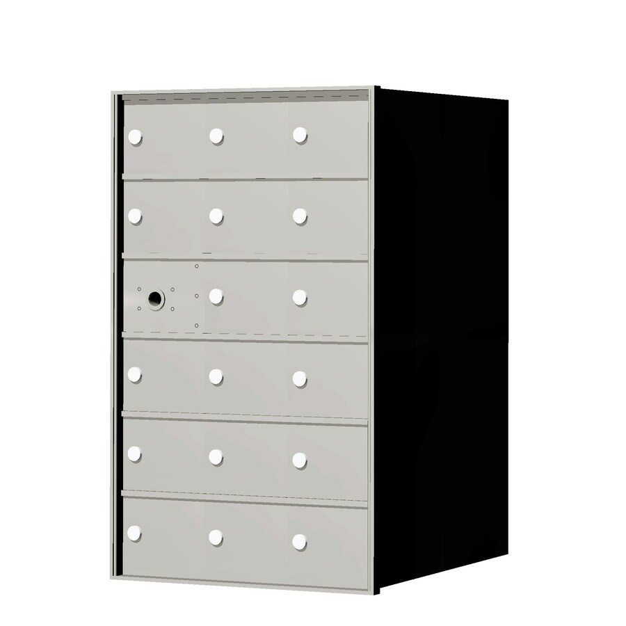 Florence 1400 Series 20.8-in x 33.4-in Metal Anodized Aluminum Lockable Recessed Mount Cluster Mailbox