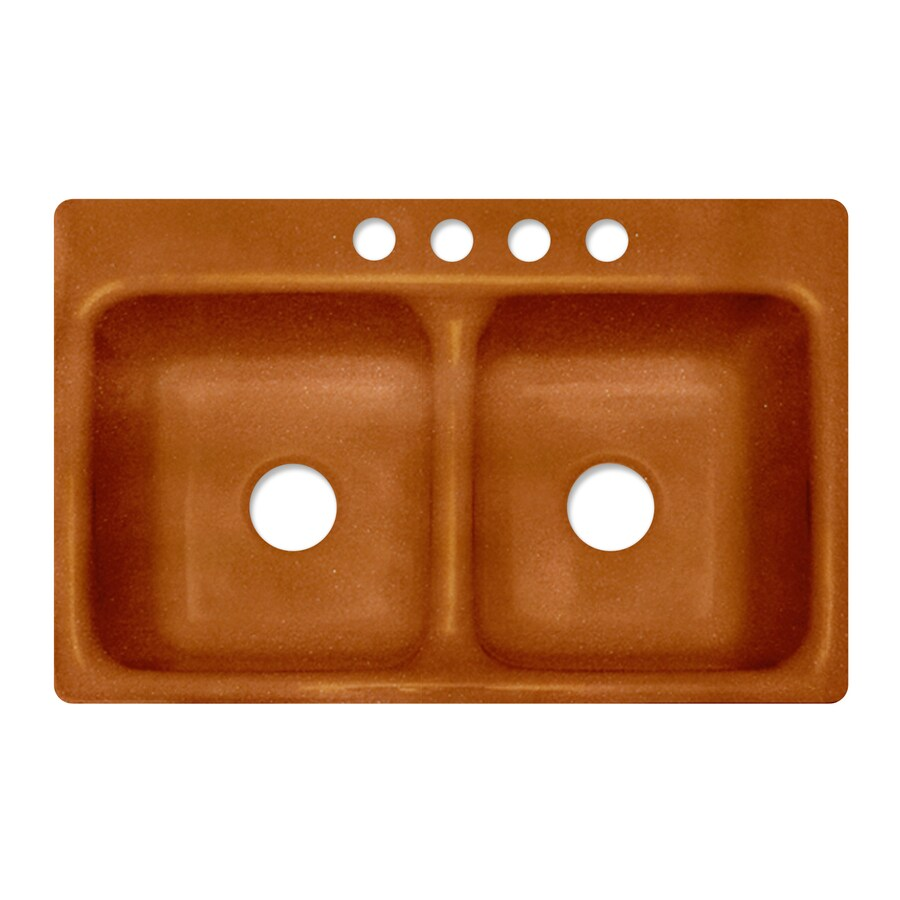 Shop corstone greenwich metallic copper double basin - Copper drop in kitchen sink ...