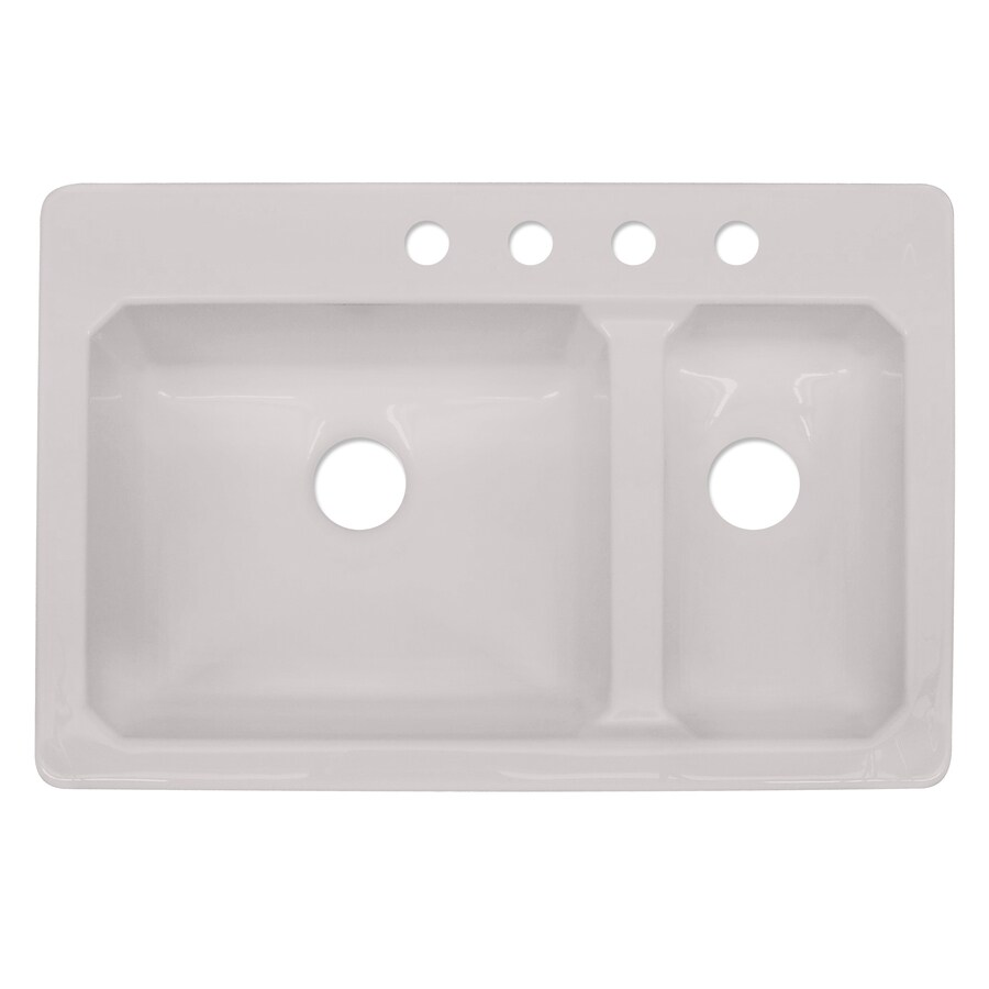 Shop CorStone Cranston Double-Basin Drop-in Acrylic ...