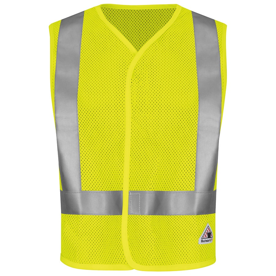 Bulwark X-Large Yellow/Green Modacrylic/Aramid High Visibility Reflective Flame Resistant Safety Vest