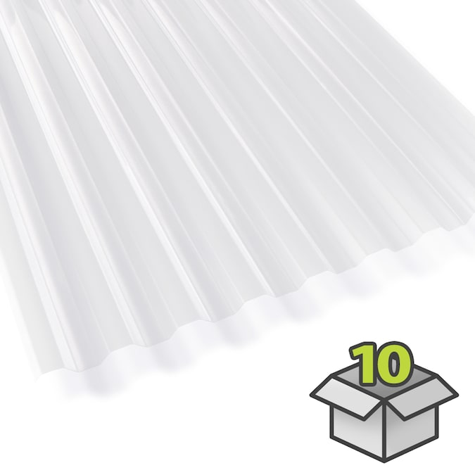 Suntuf Suntuf 2 Ft X 6 Ft Corrugated Clear Polycarbonate Plastic Roof Panel In The Roof Panels Department At Lowes Com