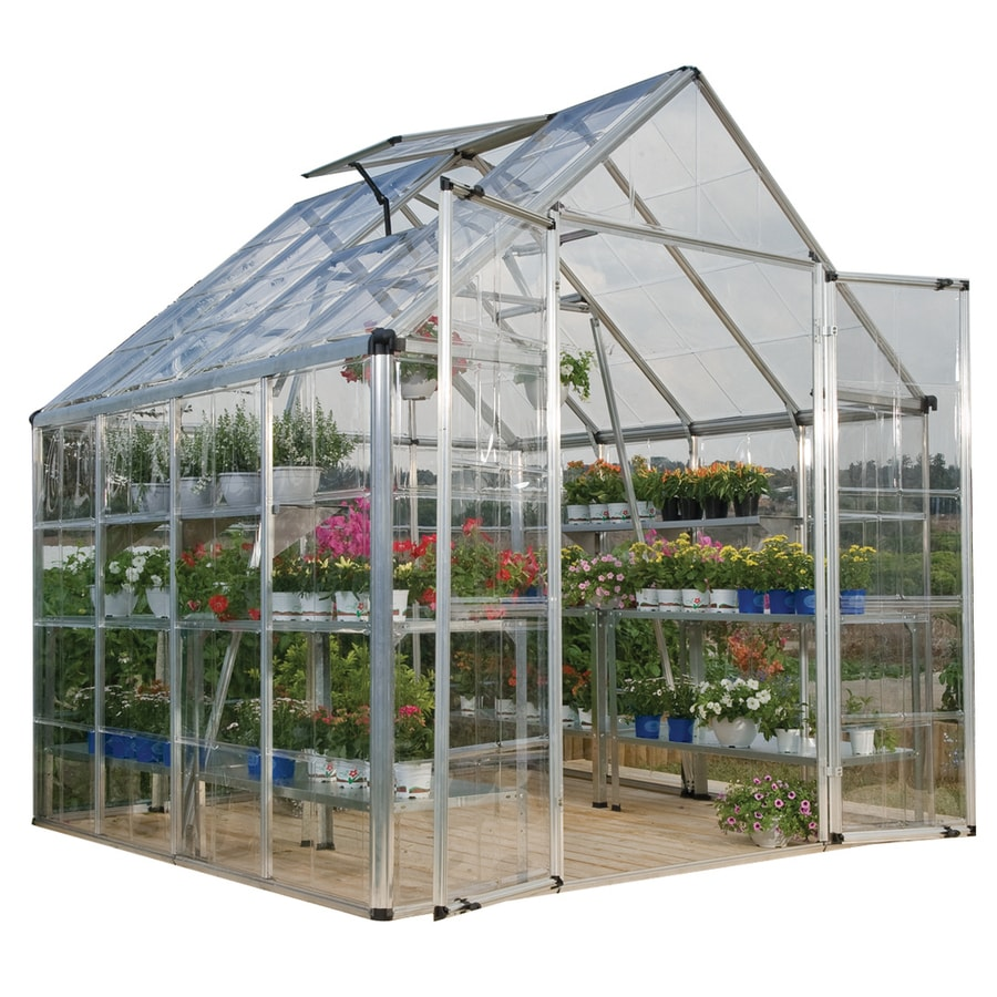 Palram 8.33-ft L x 8.1-ft W x 8.54-ft H Polycarbonate Greenhouse