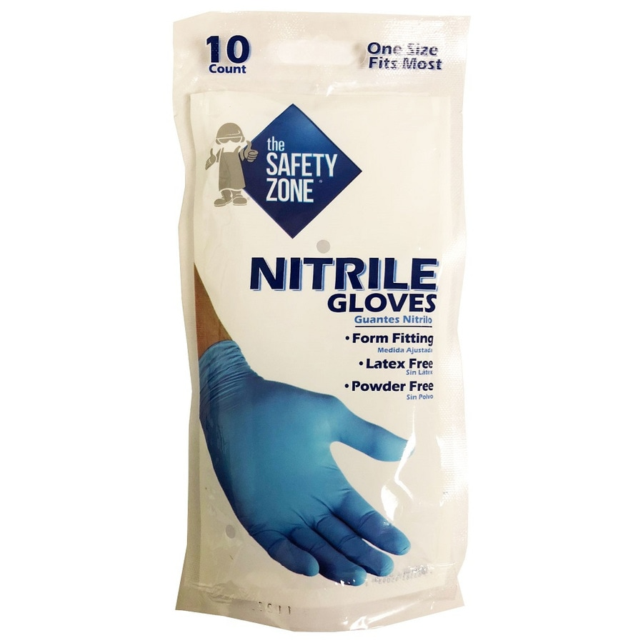 Blue Hawk 5-Pair One Size Fits All Nitrile Cleaning Gloves