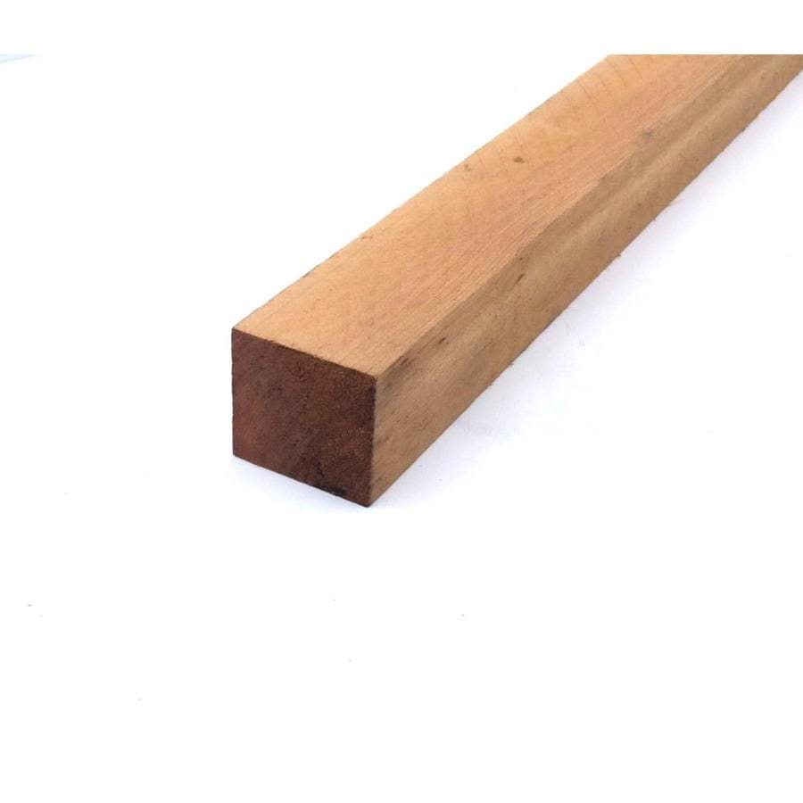 Top Choice #2 Rough Cedar Lumber (Common: 2-in x 2-in x 8-in-ft; Actual: 1-3/4-in x 1-3/4-in x 96-in)