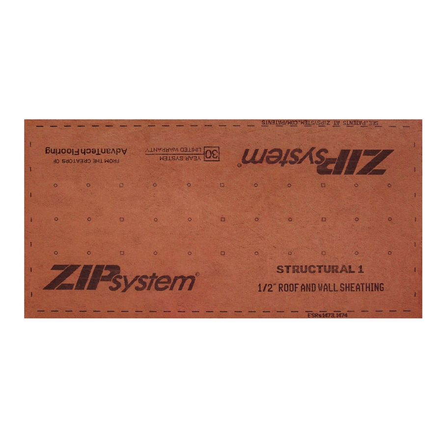 ZIP System 1/2 CAT PS2-10 Tongue and Groove OSB Sheathing, Application as 4 x 8