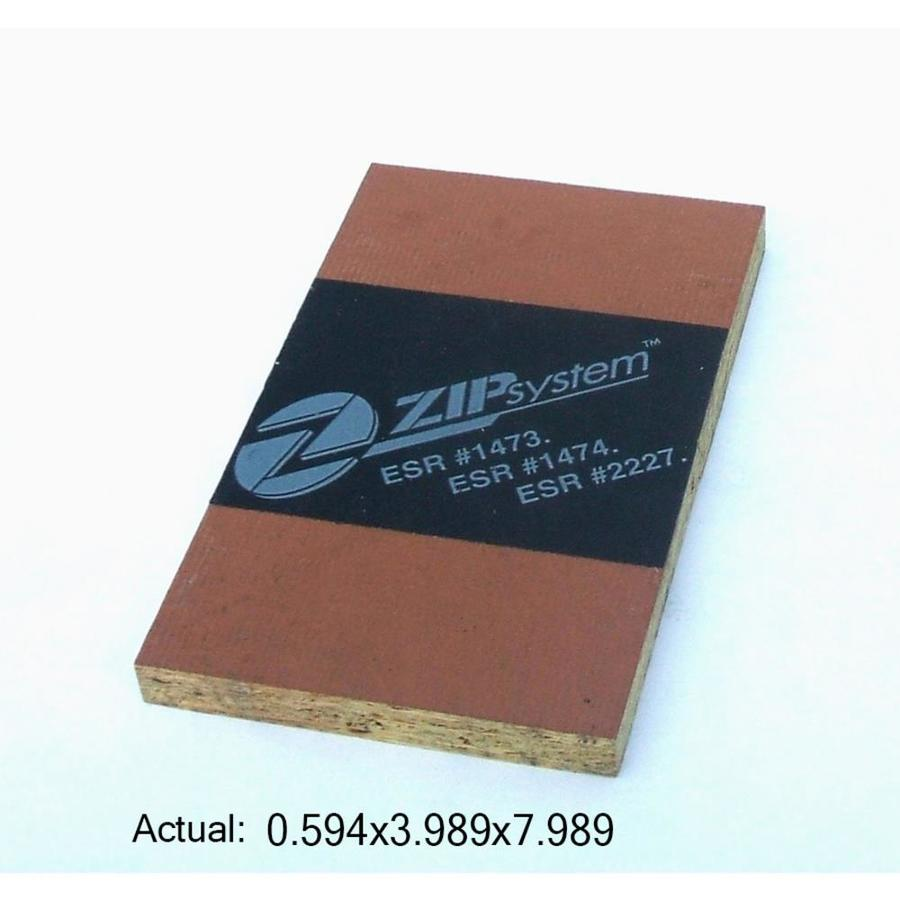 ZIP System 5/8 CAT PS2-10 Tongue and Groove OSB Sheathing, Application as 4 x 8