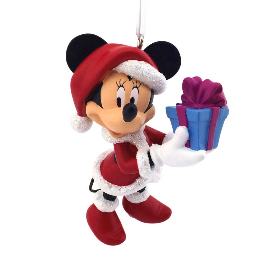 Hallmark Black Red White Mickey and Minnie Ornament