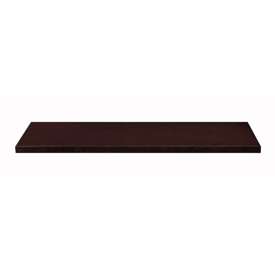 allen + roth 48-in x 14.6-in Cappuccino Wood Closet Shelf