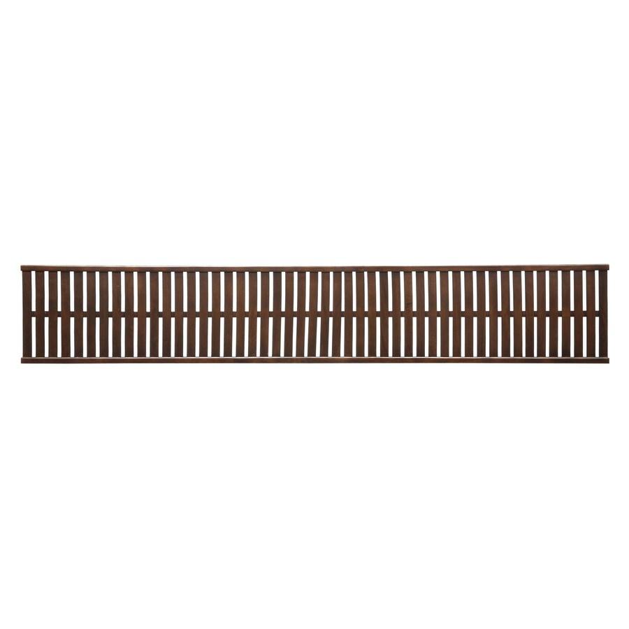 allen + roth 96-in W x 16-in D Cappuccino Wood Closet Shelf
