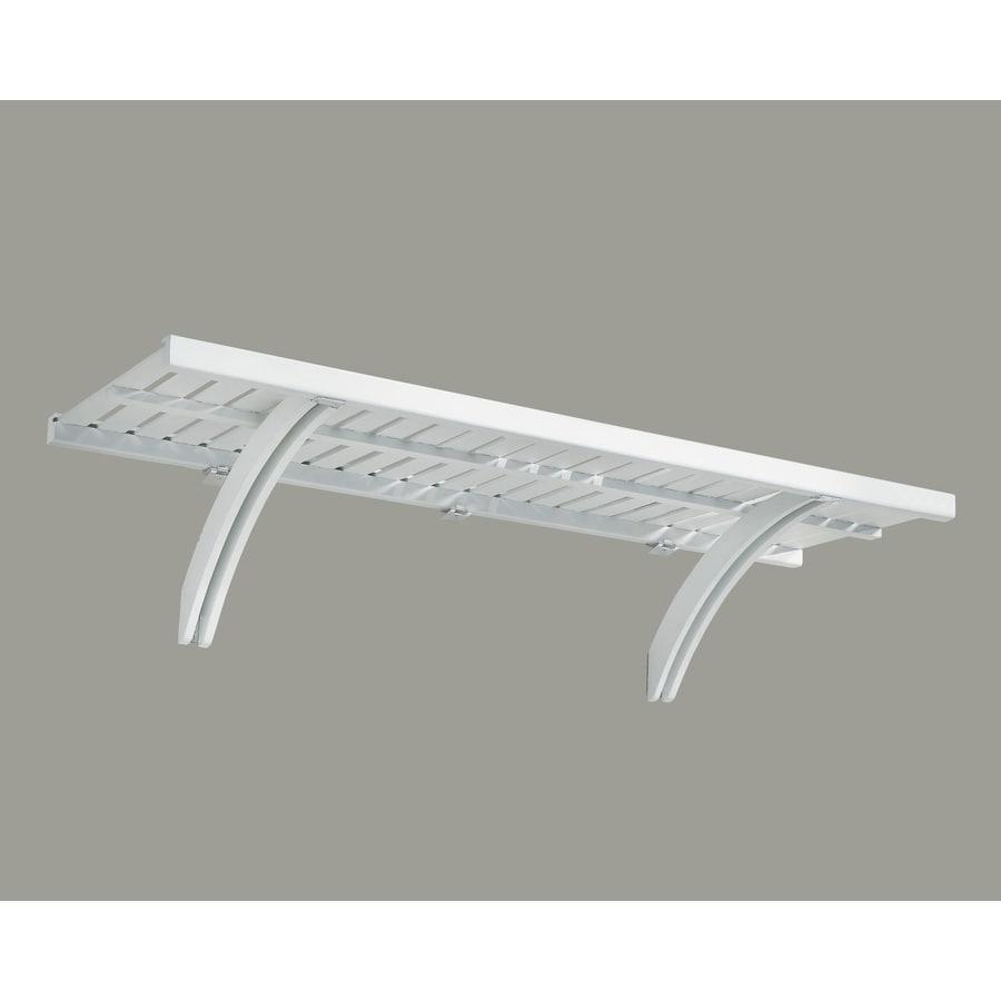 allen + roth 48-in x 16-in White Wood Closet Shelf Kit