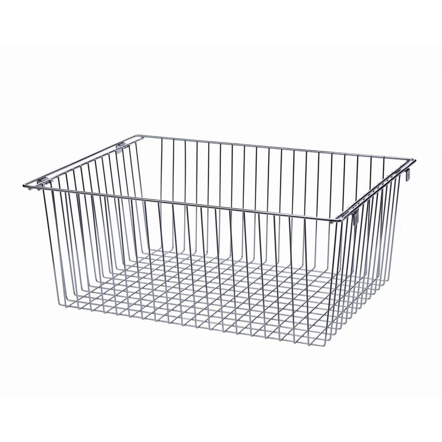 shop allen roth nickel wire basket at. Black Bedroom Furniture Sets. Home Design Ideas