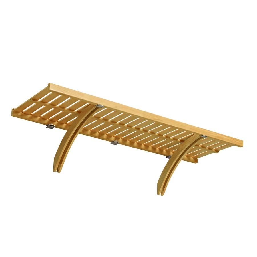 allen + roth 48-in x 16-in Natural Wood Closet Shelf Kit