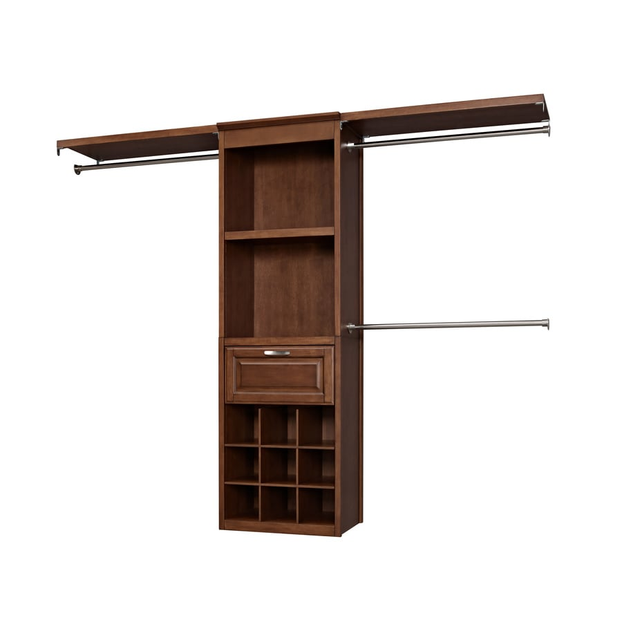 allen + roth 8-ft Sable Wood Closet Kit