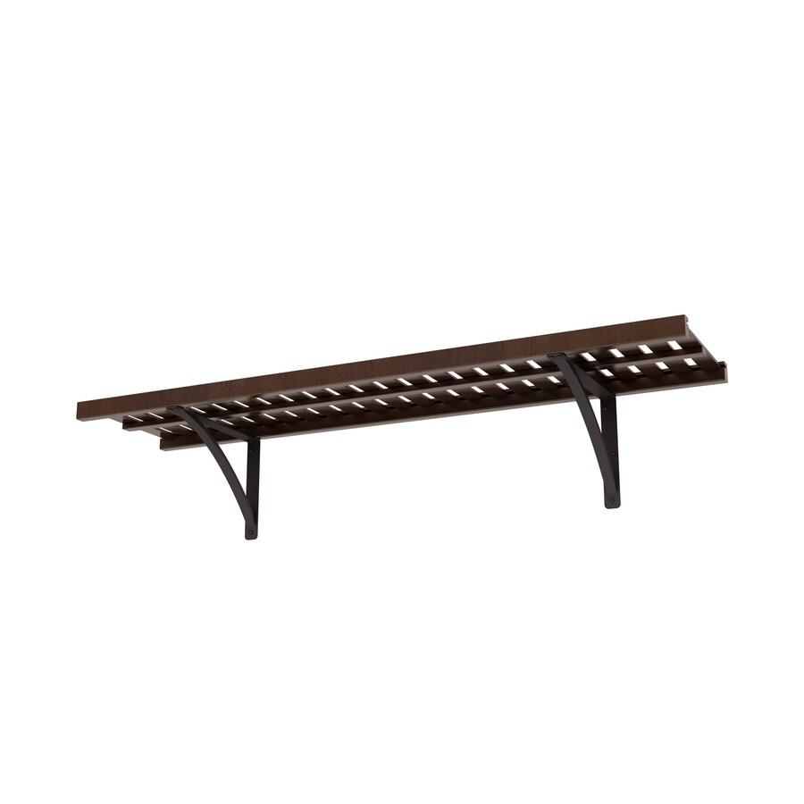 allen + roth 48-in W x 16-in D Java Wood Closet Shelf