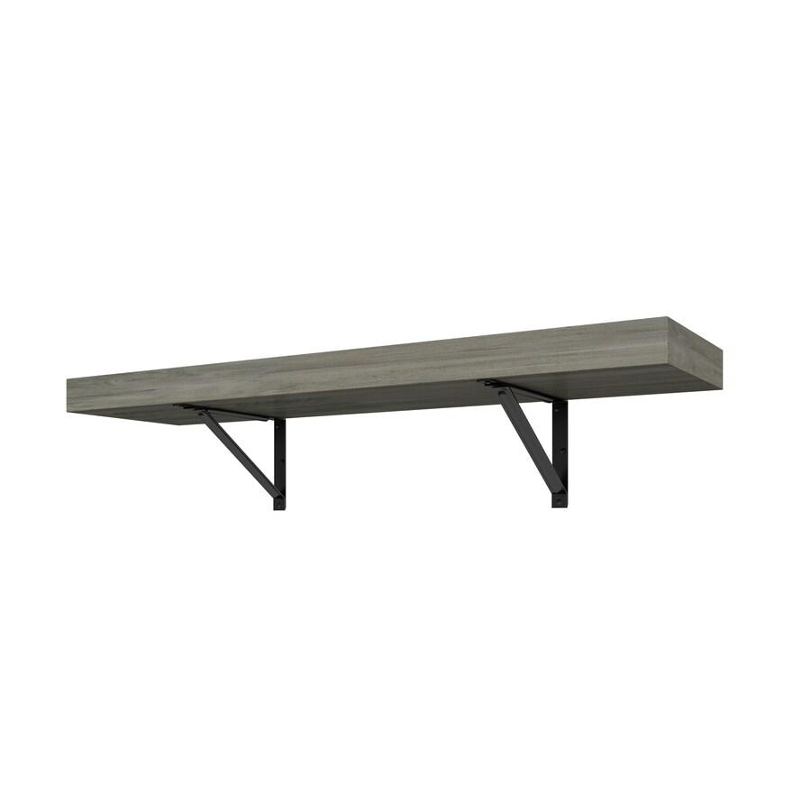 Whalen Solid Wood 36-in W x 9.75-in L x 9.75-in D Gray Decorative Shelf Bracket