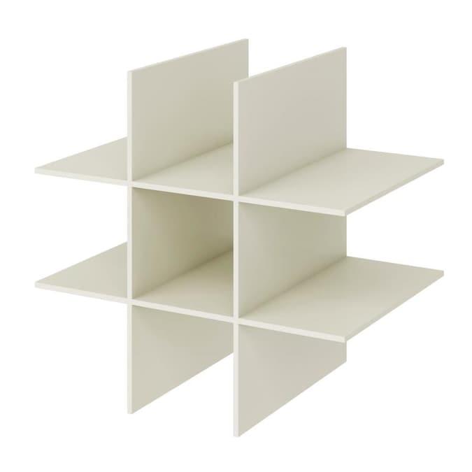 roth 21.6-in x 10.7-in x 14.6-in Antique White Composite Drawer Unit allen