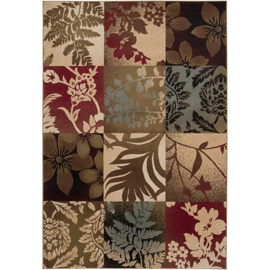 Artistic Weavers Columbus Brown Rectangular Indoor Woven Area Rug (Common: 5 x 8; Actual: 63-in W x 90-in L x 1.6-ft Dia)