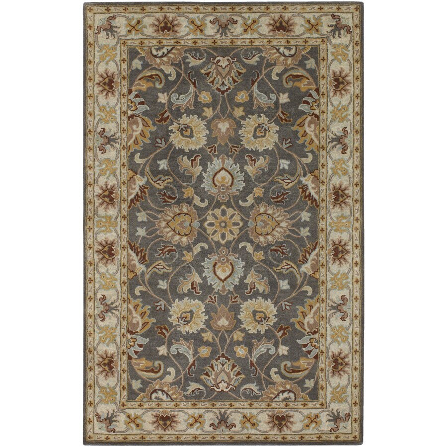 Artistic Weavers Caesar 5-ft 6-in x 7-ft 6-in Rectangular Gray Border Area Rug