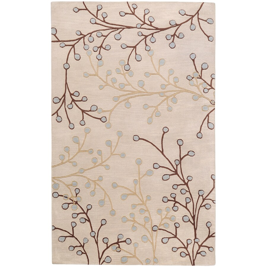 Artistic Weavers Hamilton Ivory Rectangular Indoor Tufted Area Rug (Common: 5 x 8; Actual: 60-in W x 96-in L x 1.7-ft Dia)