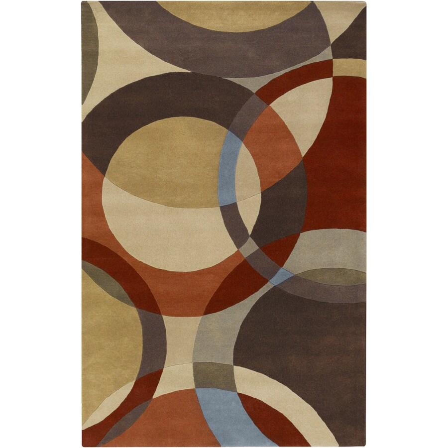 Artistic Weavers Lismore Brown Rectangular Indoor Tufted Area Rug (Common: 5 x 8; Actual: 60-in W x 96-in L x 1.7-ft Dia)