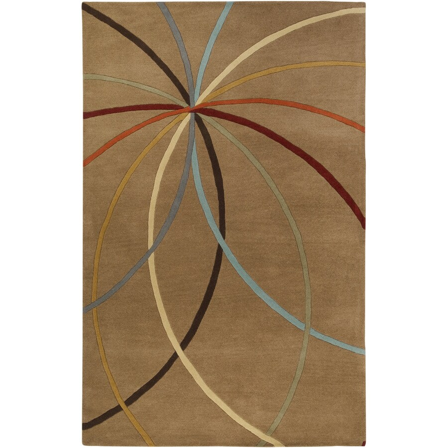 Artistic Weavers Maitland Brown Rectangular Indoor Tufted Area Rug (Common: 5 x 8; Actual: 60-in W x 96-in L x 1.7-ft Dia)