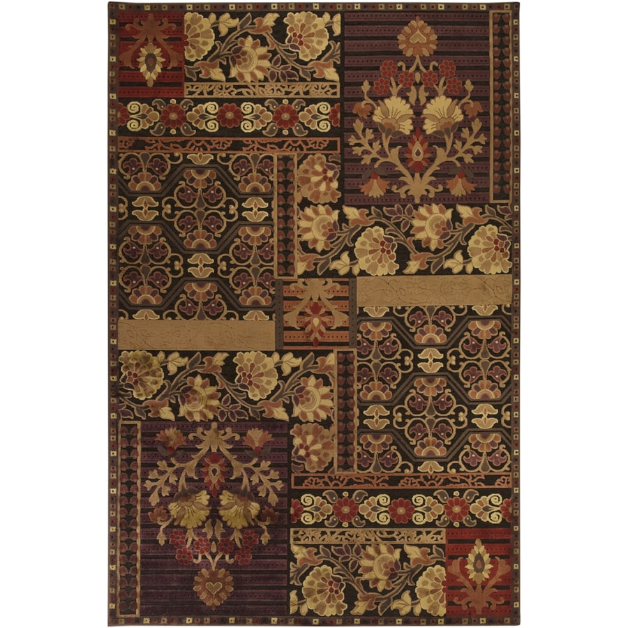 Artistic Weavers Waterford 5-ft 6-in x 7-ft 6-in Rectangular Red Floral Area Rug