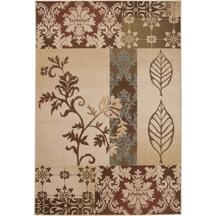 Artistic Weavers Savannah Rectangular Cream Floral Woven Area Rug (Common: 8-ft x 11-ft; Actual: 7.83-ft x 10.83-ft)