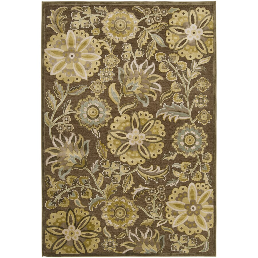 Artistic Weavers Lisburn 7-ft 6-in x 10-ft 6-in Rectangular Brown Floral Area Rug