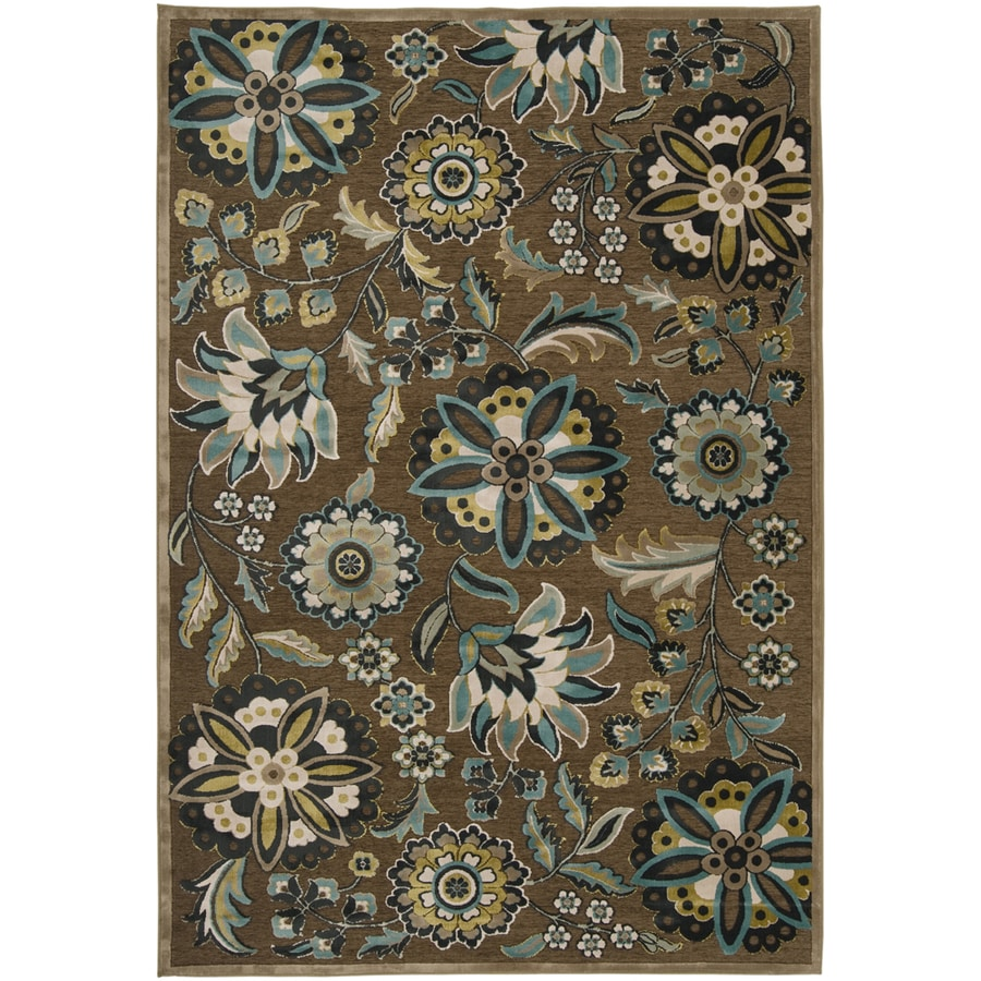 Artistic Weavers Cashel 5-ft 6-in x 7-ft 6-in Rectangular Brown Floral Area Rug