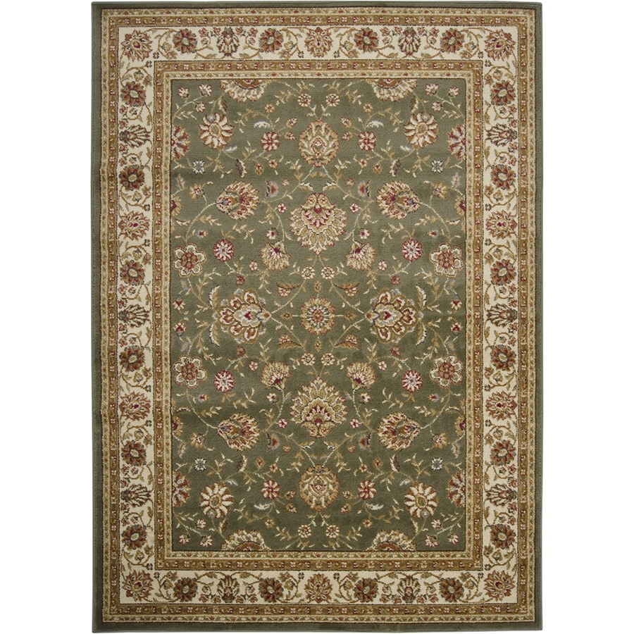 Artistic Weavers Albany Green Rectangular Indoor Woven Area Rug (Common: 8 x 10; Actual: 94-in W x 123-in L x 2.4-ft Dia)