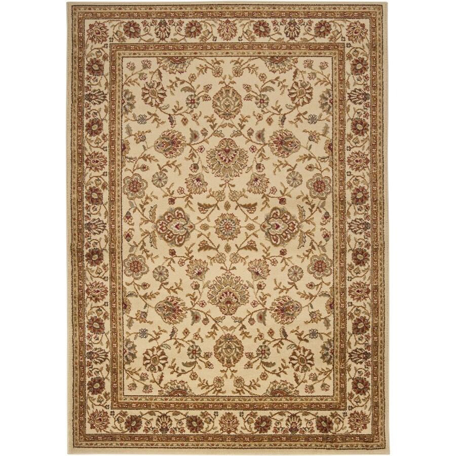 Artistic Weavers Algeria Ivory Rectangular Indoor Woven Area Rug (Common: 8 x 10; Actual: 94-in W x 123-in L x 2.4-ft Dia)