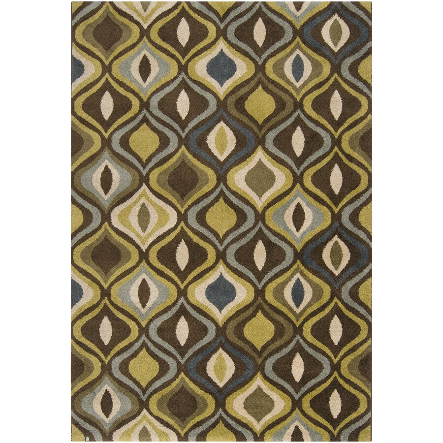 Artistic Weavers Botswana Rectangular Green Geometric Woven Area Rug (Common: 5-ft x 8-ft; Actual: 5.25-ft x 7.5-ft)