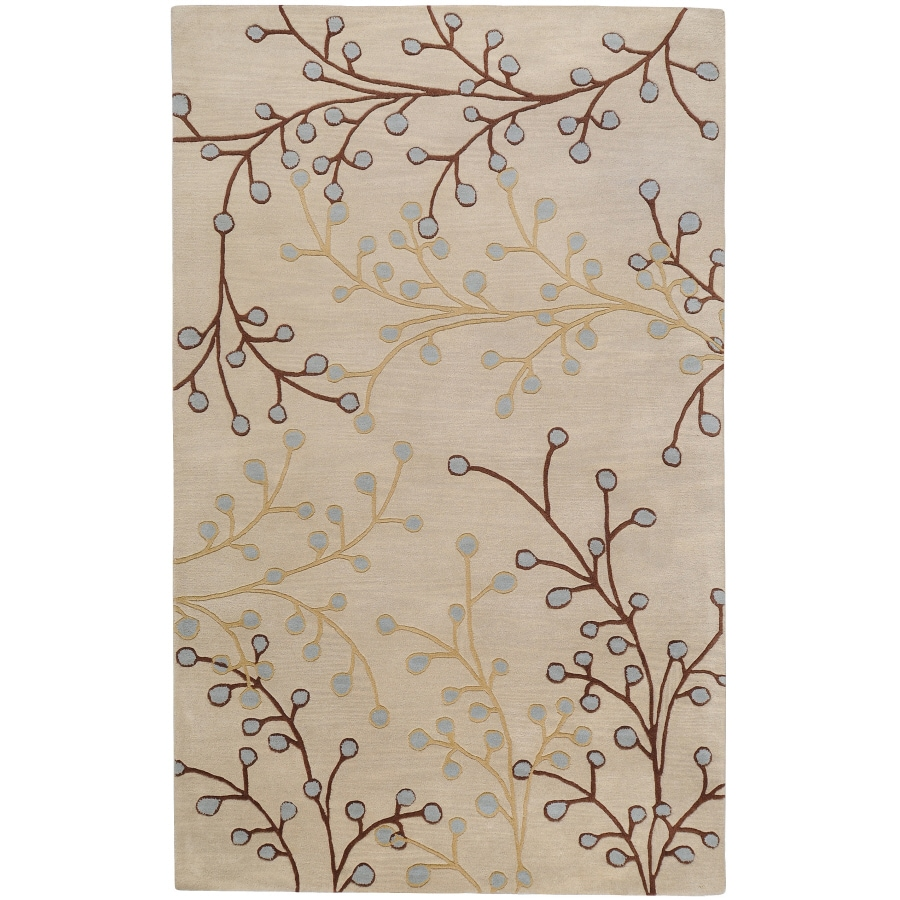 Artistic Weavers Athena White Rectangular Indoor Tufted Area Rug (Common: 8 x 11; Actual: 96-in W x 132-in L x 2.4-ft Dia)