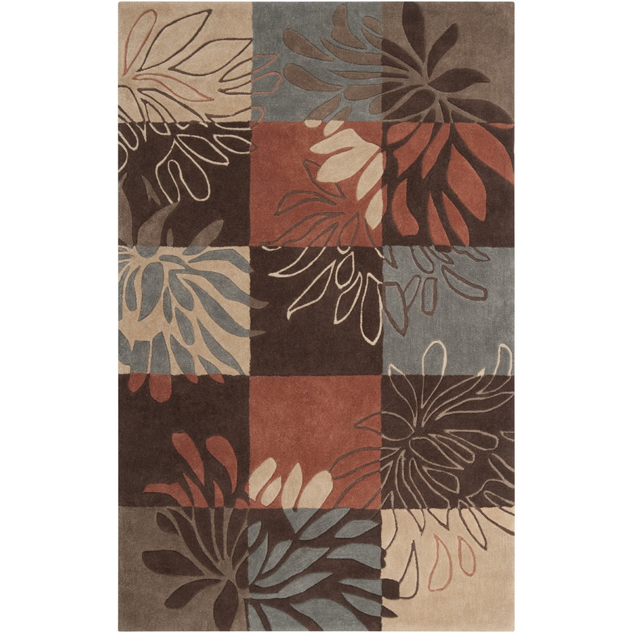 Artistic Weavers Cambridge Rectangular Brown Floral Tufted Area Rug (Common: 8-ft x 11-ft; Actual: 8-ft x 11-ft)