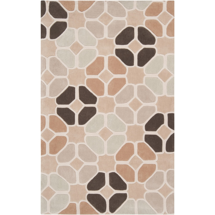 Artistic Weavers Bexhill Rectangular Cream Geometric Tufted Area Rug (Common: 5-ft x 8-ft; Actual: 5-ft x 8-ft)