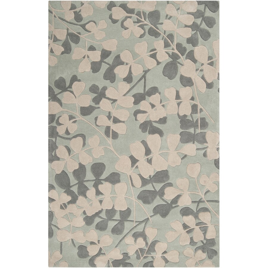 Artistic Weavers Thanet 8-ft x 11-ft Rectangular Blue Floral Area Rug