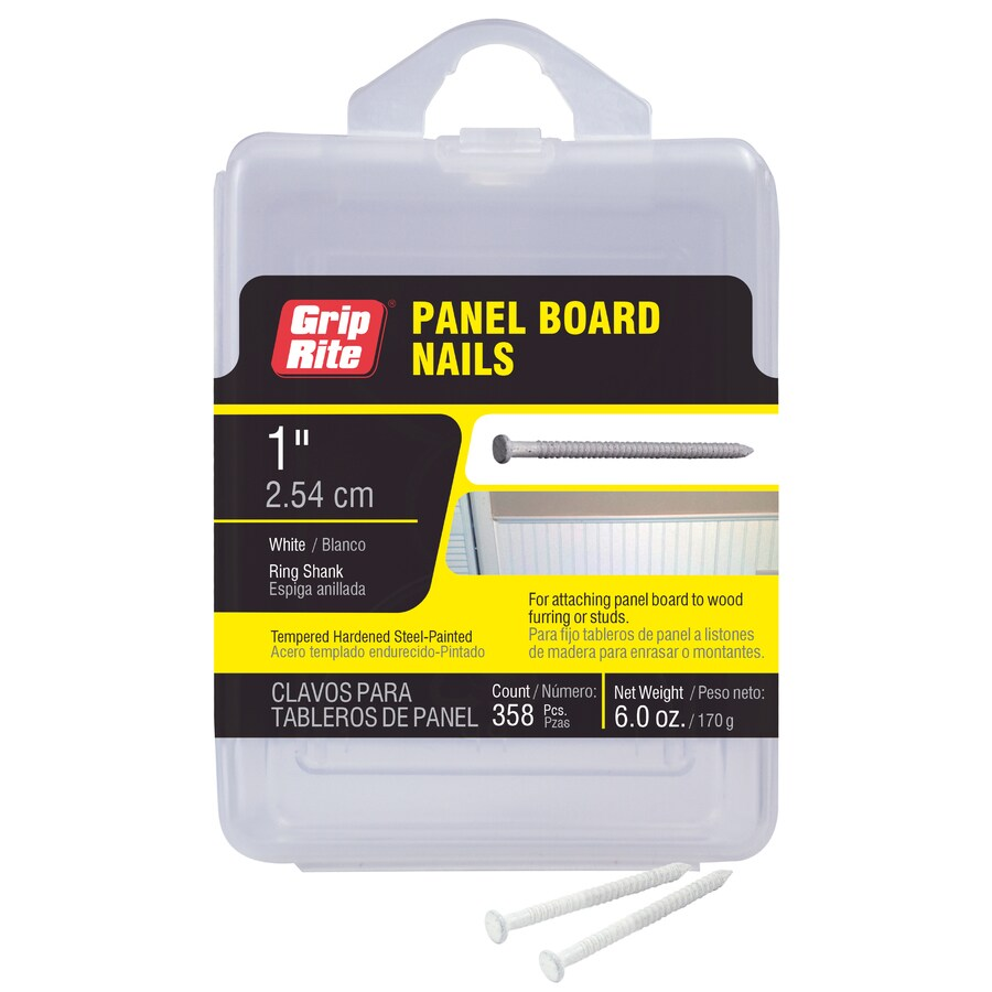 Grip-Rite 6-oz 16.5-Gauge 1-in White Panel Board Nails