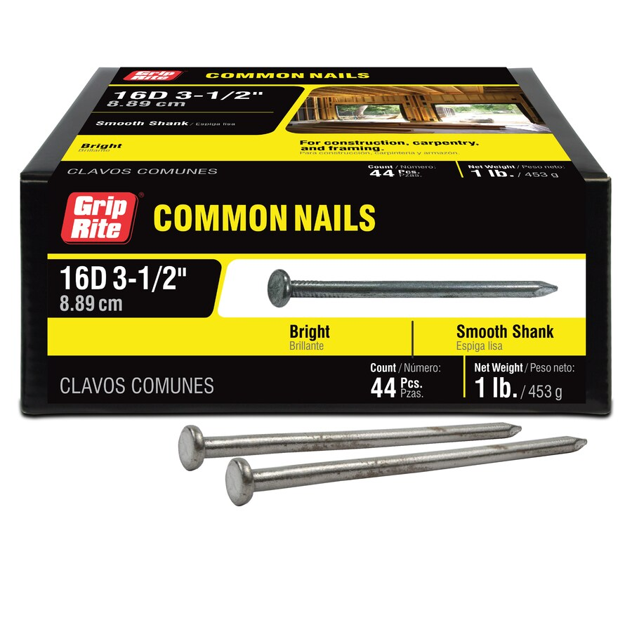 Grip-Rite 1-lb 8-Gauge 3.5-in Bright Steel Smooth Nails