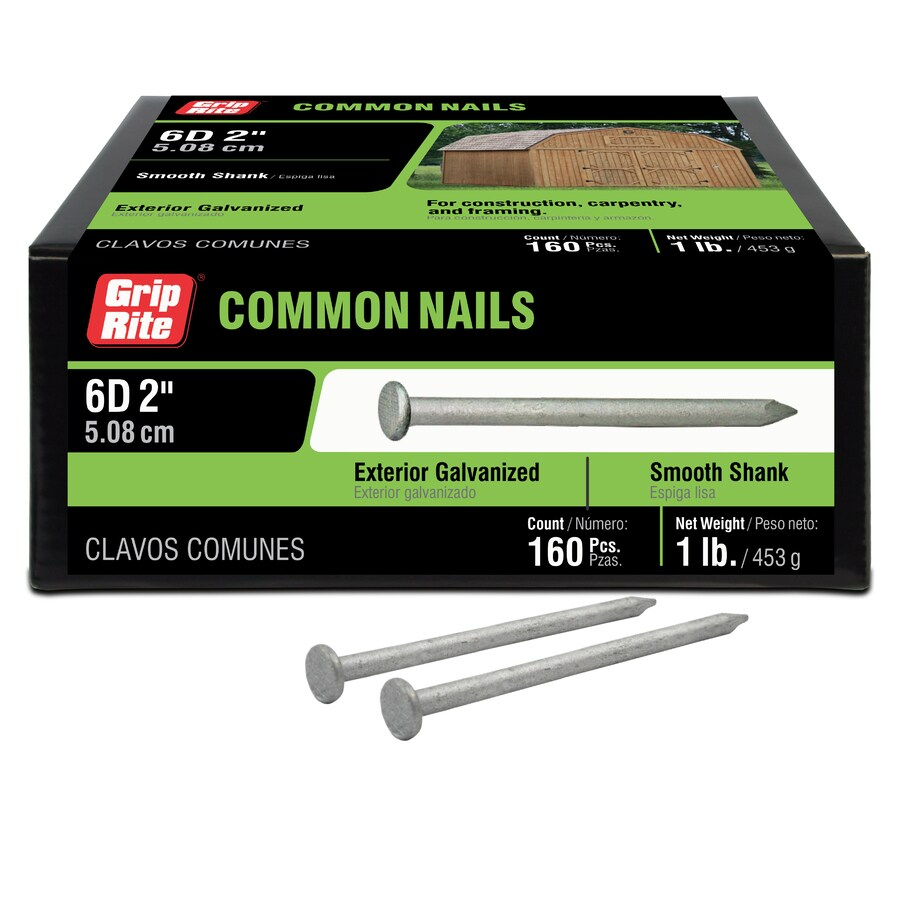 Grip-Rite 1-lb 11.5-Gauge 2-in Hot-Dipped Galvanized Smooth Nails